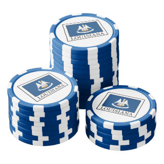 Louisiana Poker Chips Set