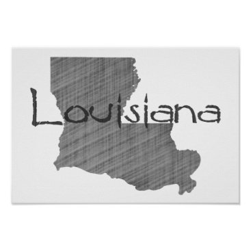 USA Themed Louisiana Poster