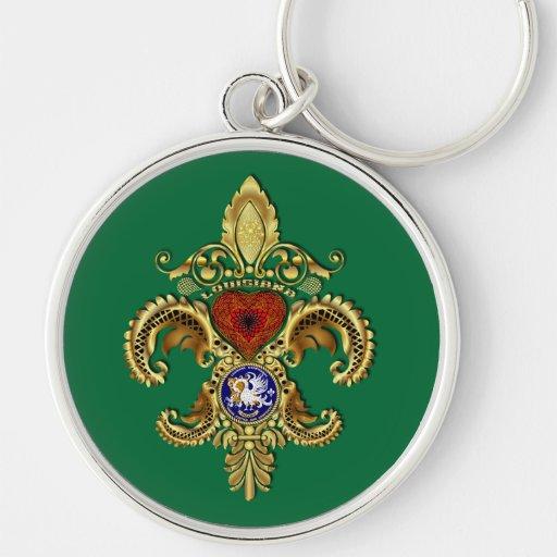 Louisiana Premium Key Chain All Sizes