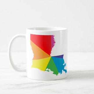 louisiana pride. classic white coffee mug