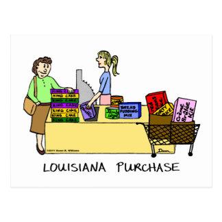 Louisiana Purchase Cartoon Postcard