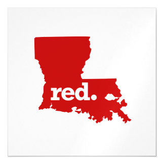 LOUISIANA RED STATE MAGNETIC CARD