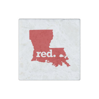 LOUISIANA RED STATE STONE MAGNET