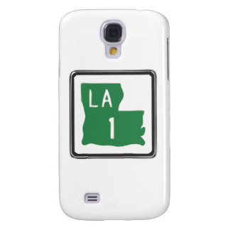Louisiana Route 1 (One) Road Trip Travel Sign Galaxy S4 Case