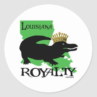 Louisiana Royalty (black gator) Classic Round Sticker