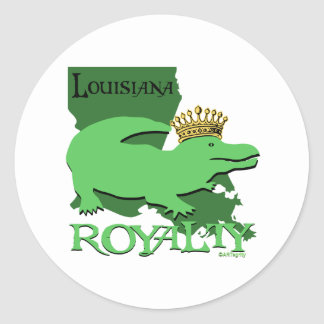 Louisiana Royalty (green gator) Classic Round Sticker
