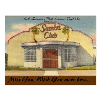 Louisiana, Samba Club, Bossier City Postcard