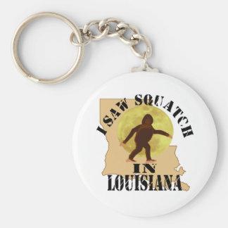 Louisiana Sasquatch Bigfoot Spotter - I Saw Him Keychain