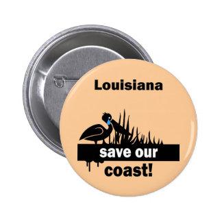 Louisiana save our coast button