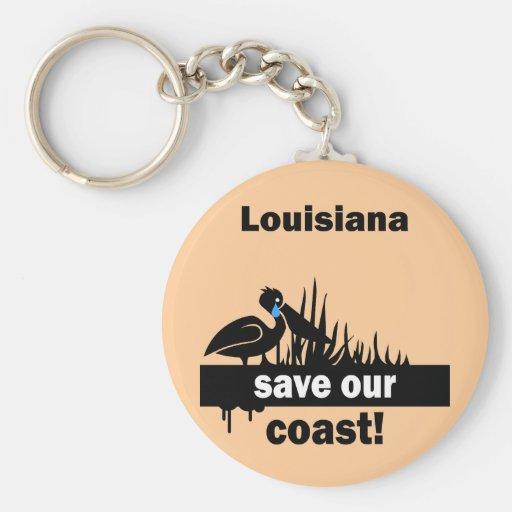 Louisiana save our coast keychain