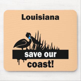 Louisiana save our coast mouse pad