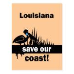 Louisiana save our coast post cards