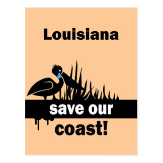 Louisiana save our coast postcard