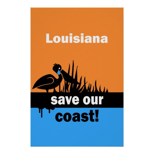 Louisiana save our coast poster
