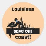 Louisiana save our coast stickers