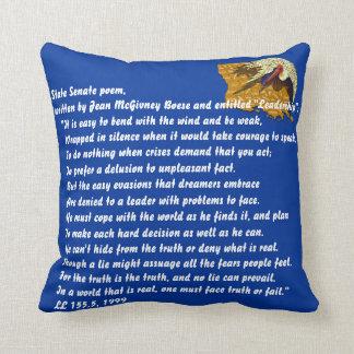 Louisiana Senate poem Important View Notes Below Throw Pillow