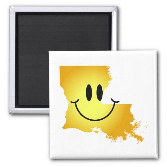 Louisiana Smiley Face Magnet