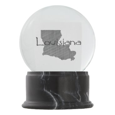 USA Themed Louisiana Snow Globe