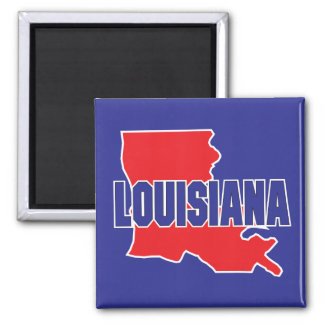 Louisiana State 2 Inch Square Magnet