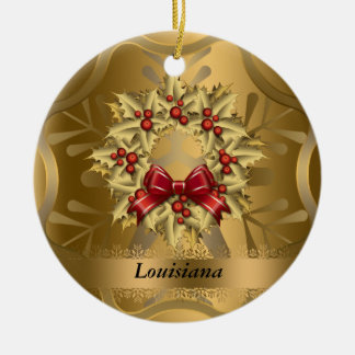Louisiana State Christmas Ornament