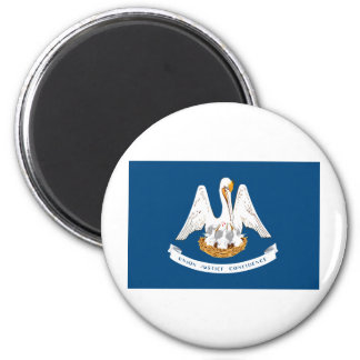 Louisiana State Flag 2 Inch Round Magnet