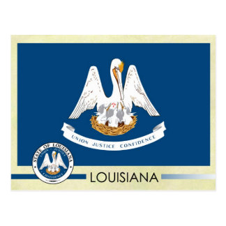 Louisiana State Flag and Seal Postcard