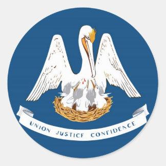 Louisiana State Flag Classic Round Sticker