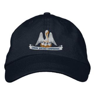 Louisiana State Flag Design Embroidered Baseball Cap
