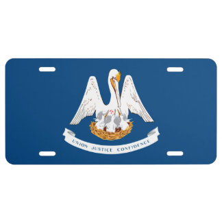 Louisiana State Flag Design License Plate