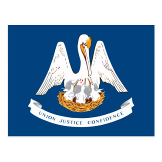 Louisiana State Flag Design Postcard