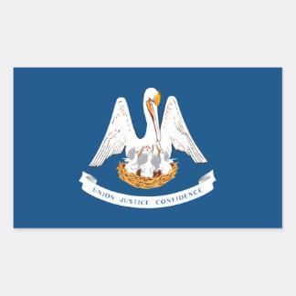 Louisiana State Flag Design Rectangular Sticker