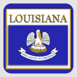 Louisiana  State Flag Design Sticker