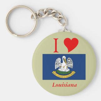 Louisiana State Flag Keychain