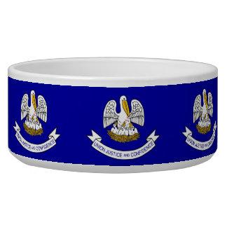 Louisiana State Flag Pet Bowl