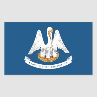 Louisiana State Flag, United States Rectangular Sticker