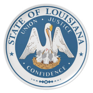 Louisiana state flag usa united america symbol sea plate