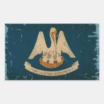 Louisiana State Flag VINTAGE.png Rectangular Sticker