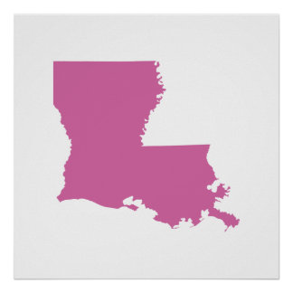 Louisiana State Outline Poster