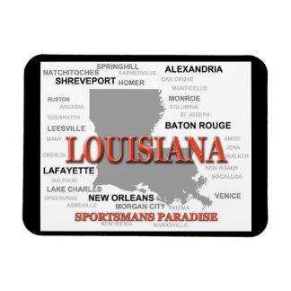 Louisiana State Pride Map Silhouette Rectangular Photo Magnet
