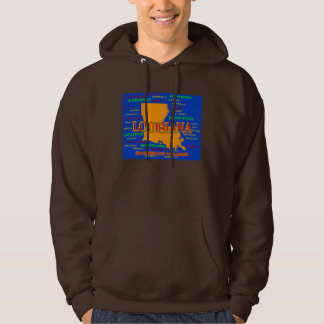 Louisiana State Pride Map Silhouette Sweatshirt