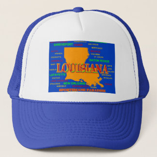 Louisiana State Pride Map Silhouette Trucker Hat