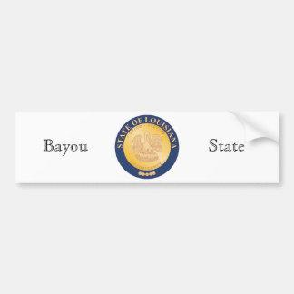 Louisiana State Seal and Motto Bumper Sticker