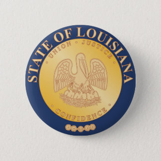 Louisiana State Seal and Motto Button