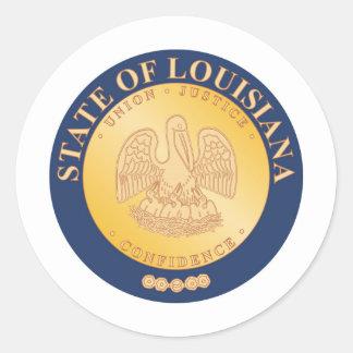 Louisiana State Seal and Motto Classic Round Sticker
