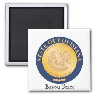 Louisiana State Seal and Motto Magnet