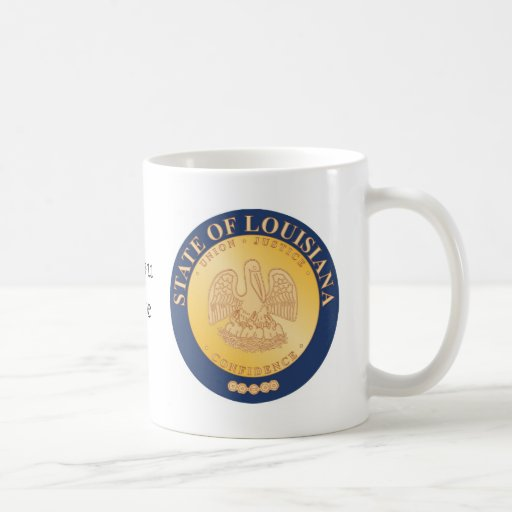 Louisiana State Seal and Motto Classic White Coffee Mug