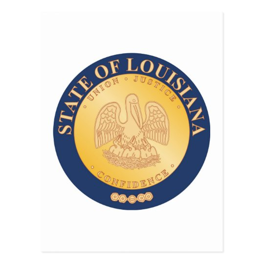 Louisiana State Seal and Motto Postcard