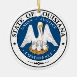 Louisiana State Seal Christmas Tree Ornament