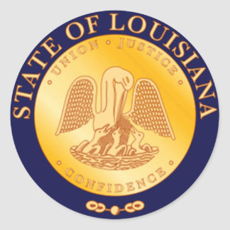 Louisiana State Seal Classic Round Sticker