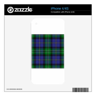 Louisiana_state_tartan Decals For iPhone 4S